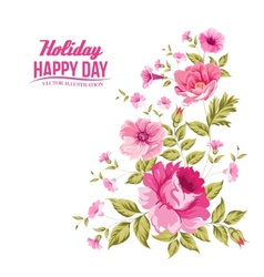 Luxurious color rose pattern vector