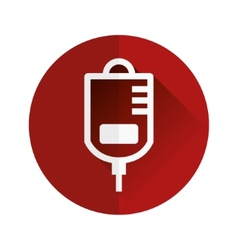 Drip-feed flat icon vector