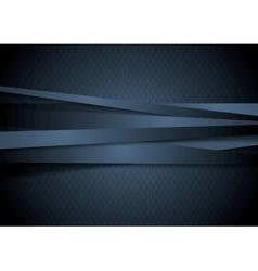 Dark corporate stripes background vector image