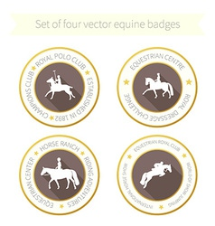 Horse rossette collection vector
