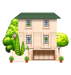 A building with trees vector