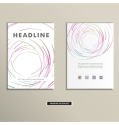 Book cover with abstract colored lines and circles vector