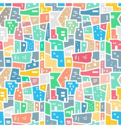 Brazilian favela Bright colored seamless pattern vector image
