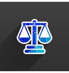 Justice icon symbol measurement balance vector