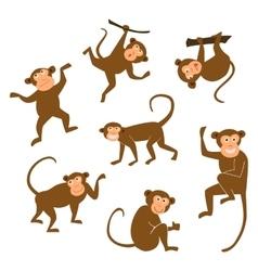 Chinese New Year 2016 monkeys decoration icon vector image