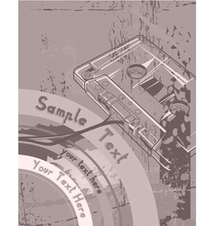 vintage music poster vector image