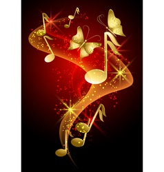 Decorative musical background vector
