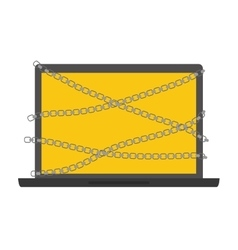 Laptop icon security and warning design vector