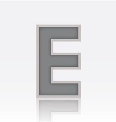 Alphabet e vector