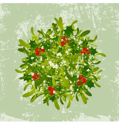 Christmas Mistletoe vector image vector image