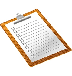 Clip board with notepad vector