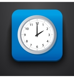 Clock symbol icon on blue vector image