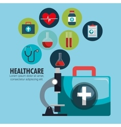collection healthcare medical icons design vector image