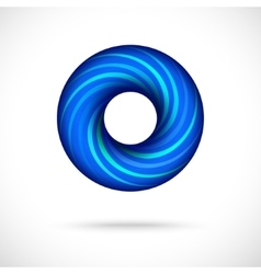 Cool blue swirl icon vector