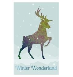 deer in snowy winter ambience vector image vector image