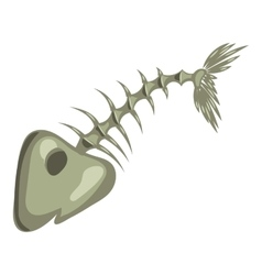 Fish bone icon cartoon style vector image