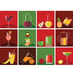 fruit juice vector image vector image
