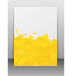 Greeting card with paint splashes vector