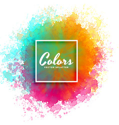 hand paint watercolor splash on white background vector image vector image