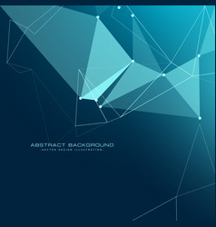 Low poly technology background design vector