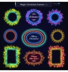 Magic christmas frames set4 vector