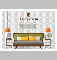 Modern bedroom background Interior design 5 vector image