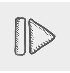 Next button sketch icon vector image