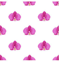 orchid embroidery seamless pattern vector image vector image
