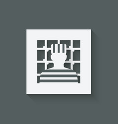 Prisoner in jail justice symbol vector