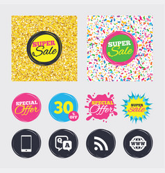 question answer icon smartphone and chat bubble vector image vector image