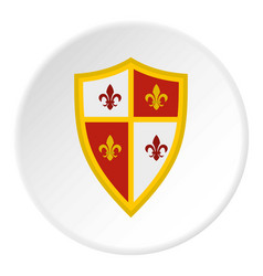 Royal shield icon circle vector