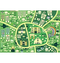seamless map of milan vector image vector image