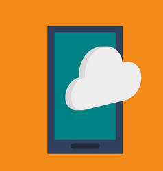 Smartphone device technology cloud data vector