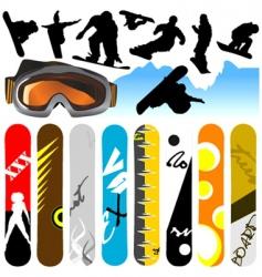 snowboard vector image
