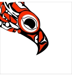 totem bird indigenous art stylization vector image vector image