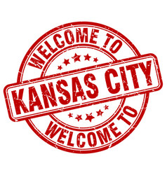 welcome to kansas city vector image vector image