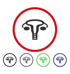 Womb rounded icon vector