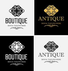 Royal boutique logo vector