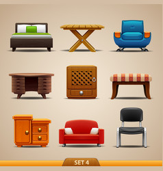 Furniture icons-set 4 vector