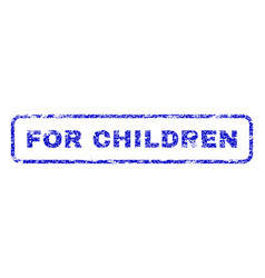 for children rubber stamp vector image