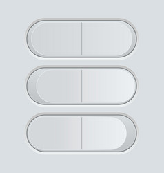 switch button blank gray pushing button vector image