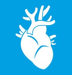 Heart icon white vector