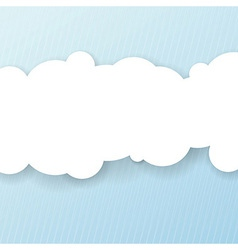 Abstract background with white cloud for message vector