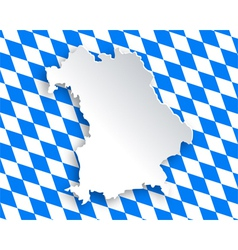 Map and flag of bavaria vector