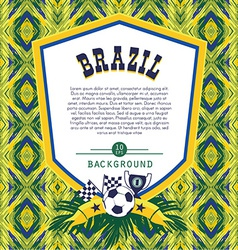Frame with traditional brazilian football theme vector