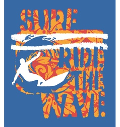 Ride the wave surf vector image