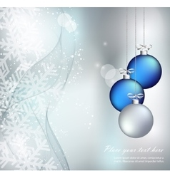 Merry christmas landscape happy new year vector