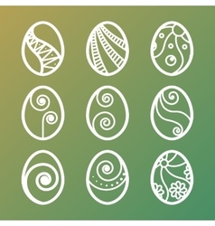 Set of easter eggs icons vector