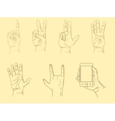Hands sketch vector