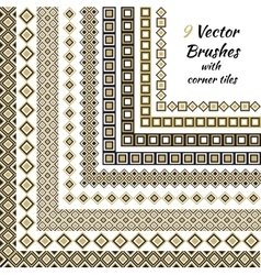 Decorative brushes with inner and outer vector